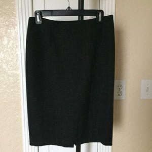 Dark Grey Loft Pencil Skirt
